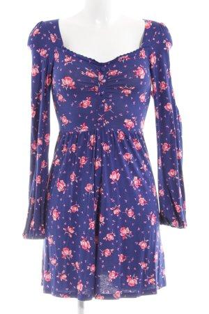 Topshop Jerseykleid blau-pink Allover-Druck Elegant