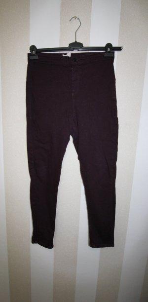 Topshop Pantalon rouge mûre
