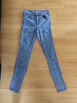 Topshop Joni Highwaist Destroyed Ripped Jeans W25 L30