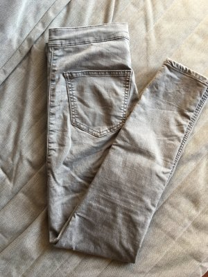 Topshop High Waist Jeans light grey
