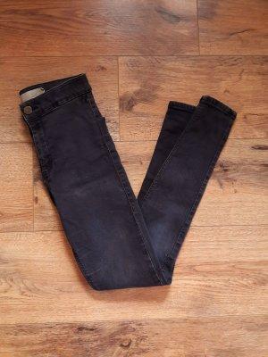 Topshop Joni Skinny High Waist Jeans Jeggings grau anthrazit schwarz Gr. XS