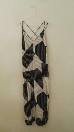 Topshop Dress white-black viscose