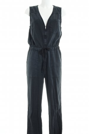 Topshop Jumpsuit dunkelgrau-dunkelblau Casual-Look