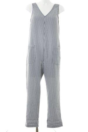 Topshop Jumpsuit schwarz-weiß Karomuster Casual-Look