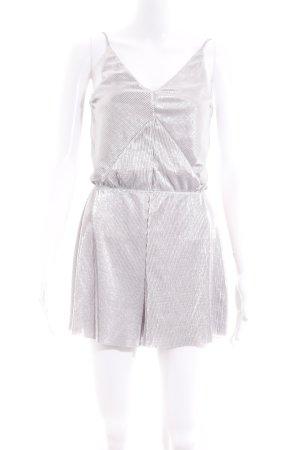 Topshop Jumpsuit zilver feest stijl