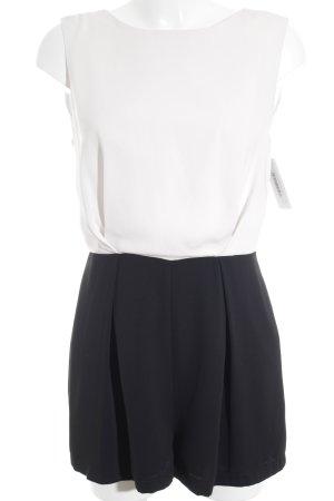 Topshop Jumpsuit weiß-schwarz Elegant