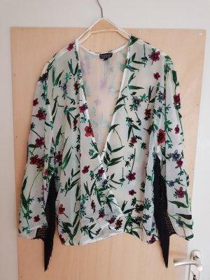 Topshop Kaftan Kimono Cardigan mit Fransen Oversize