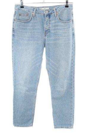 Topshop Jeans a carota blu stile casual