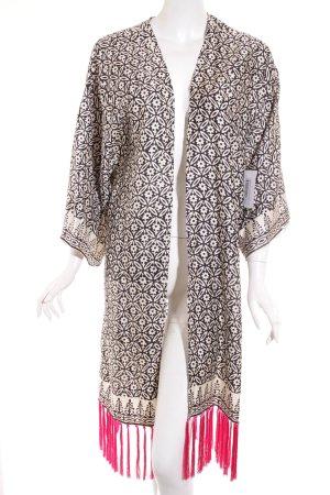 Topshop Kimono estampado con diseño abstracto estampado azteca