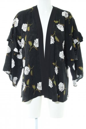 Topshop Kimono-Bluse Blumenmuster Casual-Look