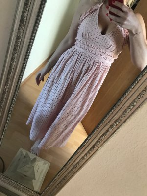 Topshop Kleid altrosa rosa Sommerkleid Maxi Midi Spitze