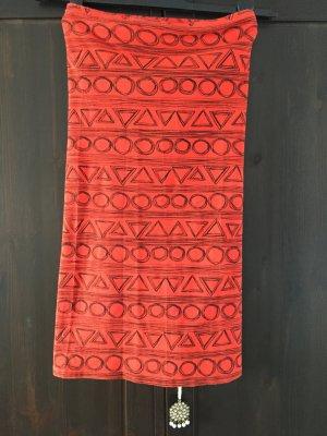 Topshop Kleid Bandeau aztec 34