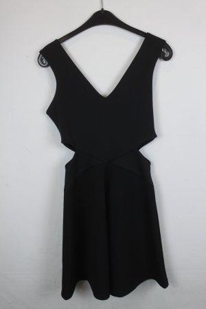 Topshop Robe découpée noir polyester