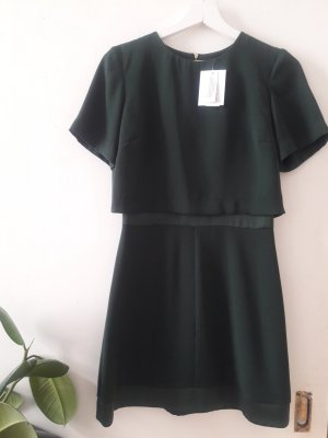 Topshop Mini Dress forest green polyester