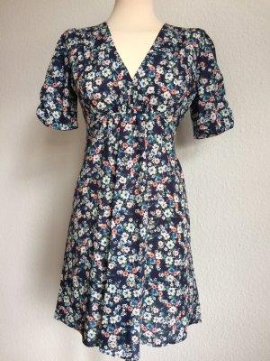 TOPSHOP Kleid geblümt blau weiß rosa Gr.36 DE! 100% Baumwolle! NEU! UNGETRAGEN!