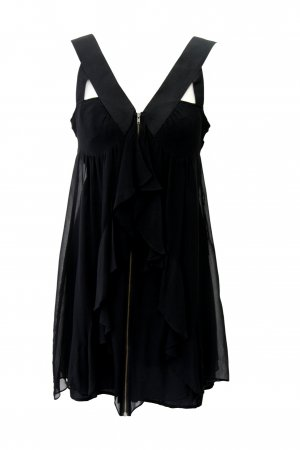 Topshop Kleid in Schwarz 100% Seide