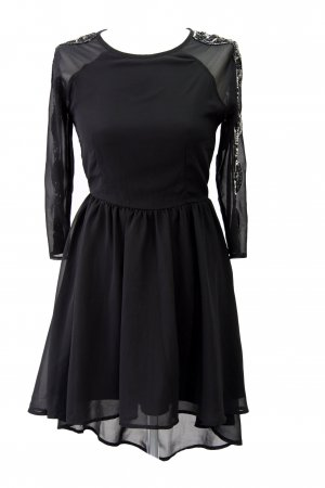 Topshop High Low Dress black polyester