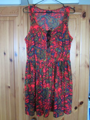 Topshop Kleid mit Paisleymuster orange Gr. 40 TOP