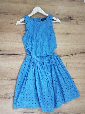 Topshop Kleid Neu CutOuts Blau Stickerei
