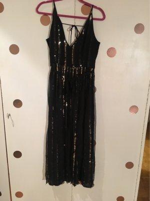 Topshop Kleid Pailletten schwarz Gold gr 40