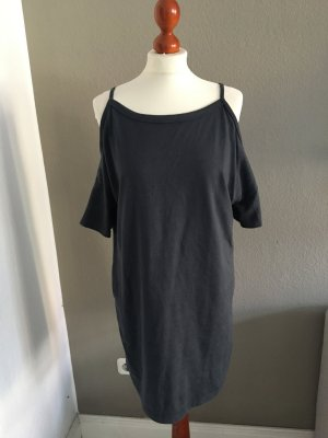 Topshop Kleid schulterfrei Jersey blau 38 10