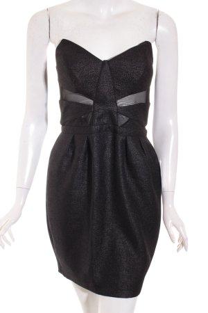 Topshop Kleid schwarz Glitzer-Optik