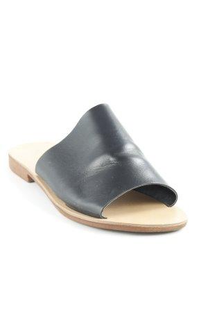 Topshop Sandalias cómodas negro-marrón claro estilo minimalista