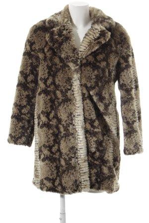 Topshop Fake Fur Jacket animal pattern fluffy