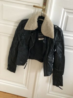 Topshop Faux Leather Jacket multicolored
