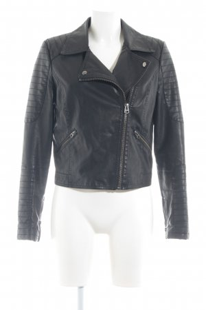 Topshop Faux Leather Jacket black casual look