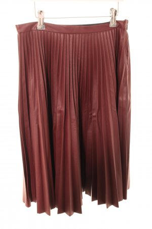 Topshop Faux Leather Skirt red casual look