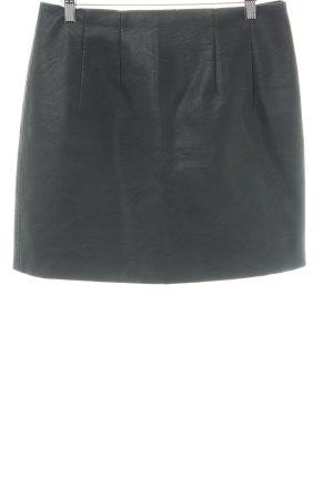 Topshop Kunstlederrock schwarz schlichter Stil