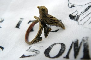 Topshop, kupferfarbener Vogelring