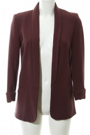 Topshop Kurz-Blazer bordeauxrot Business-Look