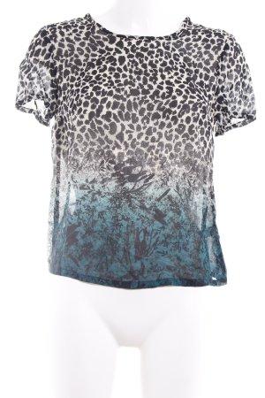 Topshop Kurzarm-Bluse Farbverlauf Casual-Look