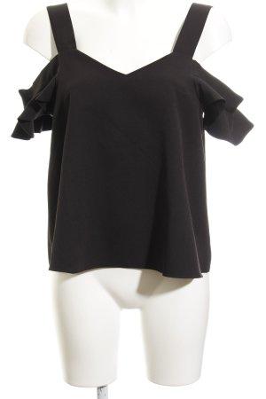 Topshop Kurzarm-Bluse schwarz Elegant
