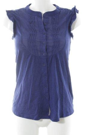 Topshop Kurzarm-Bluse stahlblau Casual-Look