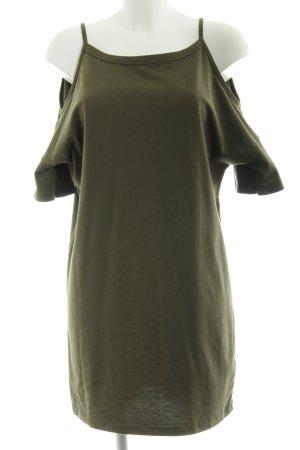 Topshop Kurzarmkleid grüngrau schlichter Stil