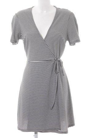 Topshop Kurzarmkleid schwarz-weiß Streifenmuster Casual-Look
