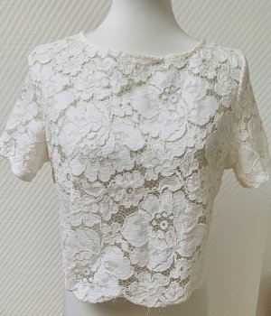 Topshop Lace Blouse natural white-cream