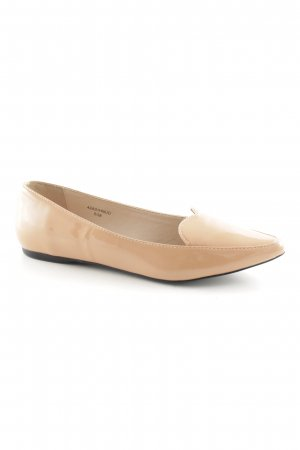Topshop Patent Leather Ballerinas apricot casual look