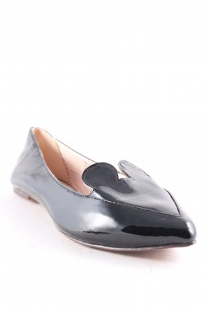 Topshop Lackballerinas schwarz Comic-Look