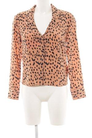 Topshop Blouse à manches longues abricot motif tache de couleur