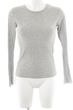 Topshop Langarm-Bluse hellgrau schlichter Stil