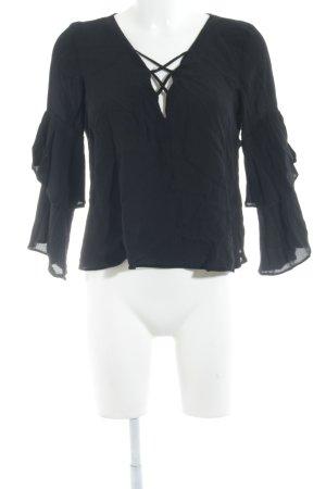 Topshop Langarm-Bluse schwarz Street-Fashion-Look