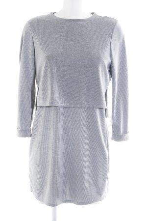 Topshop Langarmkleid schwarz-weiß Streifenmuster Elegant