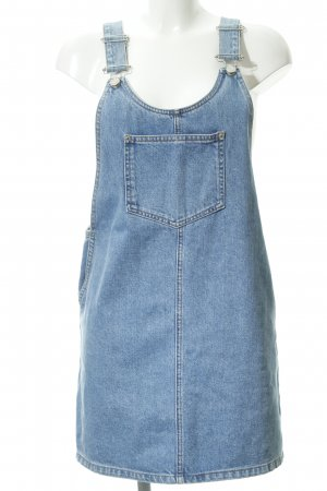 Topshop Pinafore Overall Skirt azure beach look