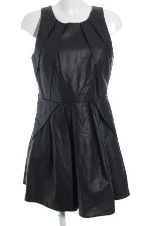 Topshop Leren jurk zwart straat-mode uitstraling
