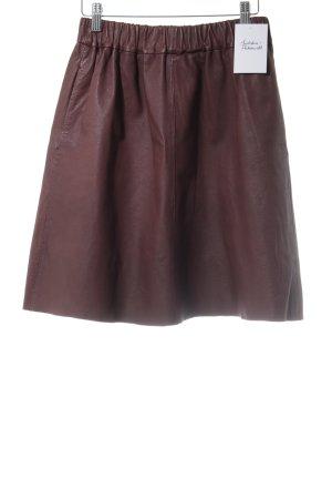 Topshop Lederrock braunrot Casual-Look