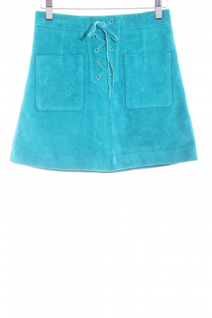 Topshop Leather Skirt turquoise casual look